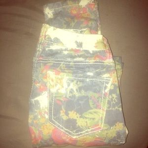 Super Skinny Floral Jeans